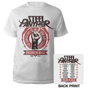Steel Panther Spreading the Disease Tour 2013 Shirt