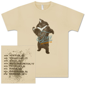 Trey Anastasio Bear Logo Tour Date T-Shirt