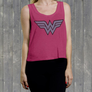 "Wonder Woman ""W W Logo"" Ladies' Crop Tank"