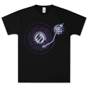 Audio Adrenaline Turntable Black T-Shirt