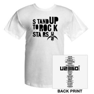 Stand Up To Rock Stars T-Shirt With US Tour Dates