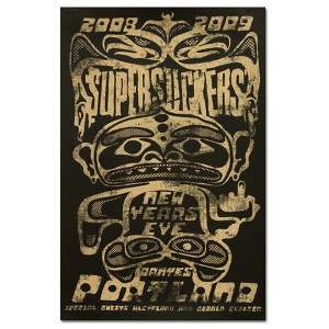 Supersuckers New Years Eve Portland 2008 Poster