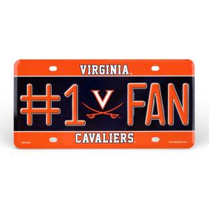 University of Virginia #1 Fan License Plate