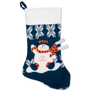 UVA Snowman Knit Stocking