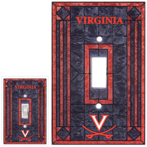 UVA Art Glass Single Switch Plate Cover