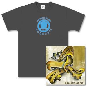 Jimmy Stewart 2007 CD / Podcast Shirt Bundle