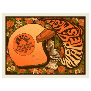 Motor Skull Silkscreen Poster