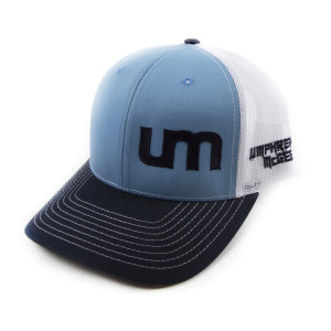 Mesh Trucker Hat - Blue/White