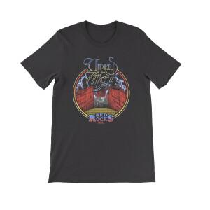 Red Rocks Circle Black Unisex Shirt