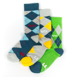 UM Argyle Socks