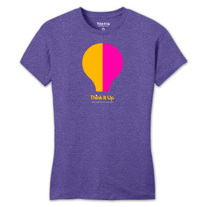 Think It UP Ladies Soft Style Crew Neck T-shirt (Purple)