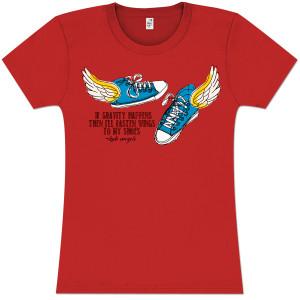 Kate Voegele 'Gravity Happens' Women's T-Shirt