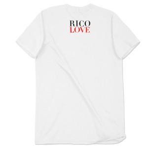 Rico Love Middle Finger Men's White T-Shirt