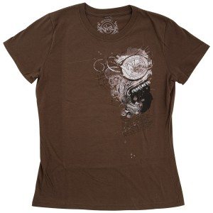 Dale Jr - Whisky River Scroll Ladies T-shirt