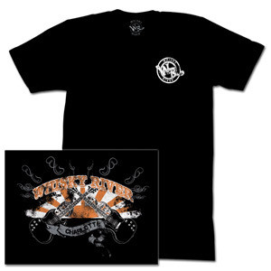 Dale Jr - Whisky River Crossed Guitars Black T-shirt