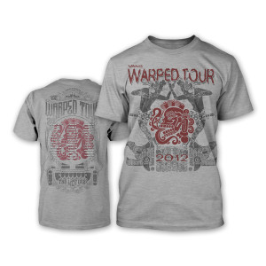 Warped Tour 2012 Women's Ritual T-Shirt - Grey