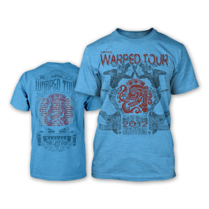 Warped Tour 2012 Women's Ritual T-Shirt - Blue