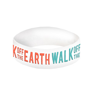 Walk Off The Earth White Logo Wrist Band