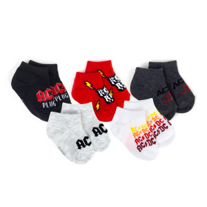 AC/DC 12-24 Month Socks (Set of 5)
