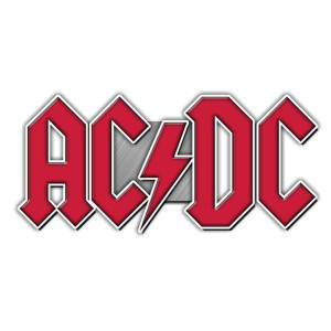 AC/DC Pewter Logo Pin