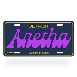 Detroit Aretha Franklin License Plate