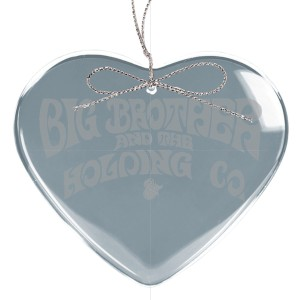 Logo Heart Laser-Etched Glass Ornament