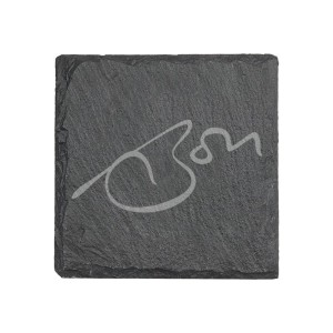 Signature Laser Engraved Slate Coaster Set