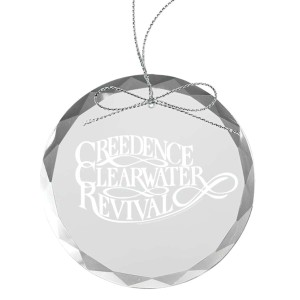 Scripted Round Laser-Etched Glass Ornament