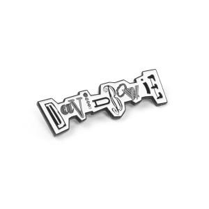 David Bowie Never Let Me Down Logo Pin