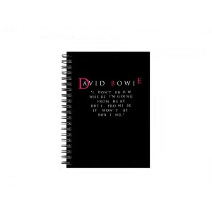 """David Bowie """"I Don't Know Where I'm Going From Here"""" Quote Journal"""