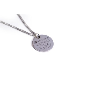 """David Bowie """"I Don't Know Where I'm Going From Here"""" Quote Necklace"""