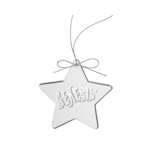 Circa 70s Logo Star Laser-Etched Glass Ornament