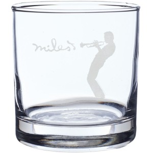 Silhouette Laser-Etched Whiskey Glass