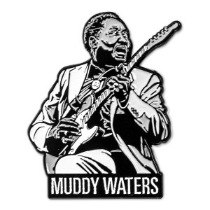Muddy Waters Enamel Pin
