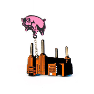 Animals Flying Pig and Powerstation Pin