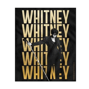 Whitney Houston Mic Lean Fleece Blanket