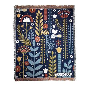 Woodstock Garden Throw Blanket