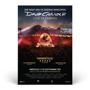 David Gilmour Live at Pompeii Official Movie Poster - Spanish