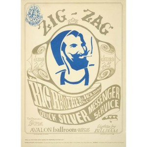 Zig Zag Man Lithograph