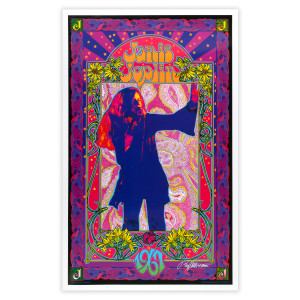 Janis Joplin 1967 Signed Bob Masse Poster