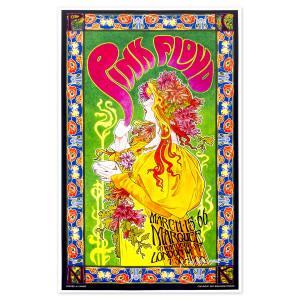 Pink Floyd Tea Party Bob Masse Signed Poster