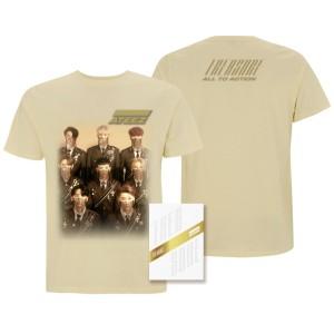 Ateez Treasure Z Ver. Package White Edition & Men's Tan T-shirt