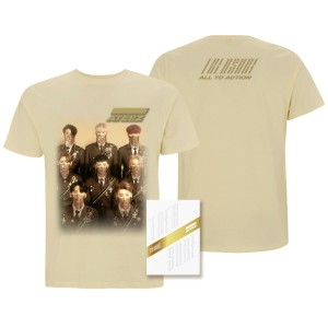 Ateez Treasure Z Ver. Package White Edition & Men's Tan T-shirt