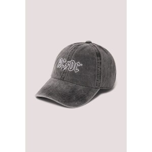 AC/DC Embroidered Pigment Wash Baseball Cap Black