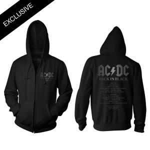 AC/DC Back in Black 40th Anniversary Zip Hoodie