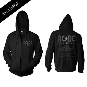 AC/DC Official Back in Black 40th Anniversary Zip Hoodie