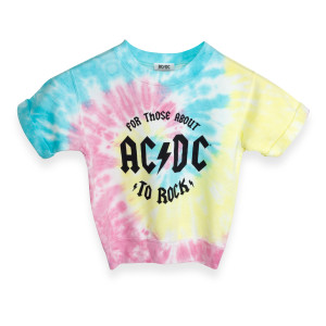 AC/DC For Those About to Rock Kids Tie-Dye Sweatshirt
