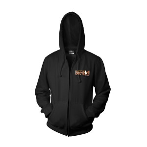 Bat Out Of Hell Men's Black Zip Hoodie