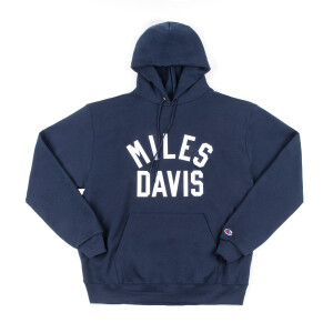 Miles Davis Embroidered Champion Navy Hoodie