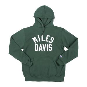 Miles Davis Embroidered Champion Dark Green Hoodie